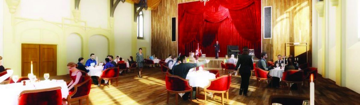 Architect's image of what Unity Hall might look like after refurbishment