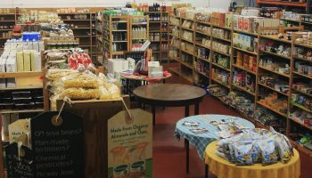 interior of Leicester Wholefoods